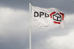 DPD Bildmotiv mit DPD Logo