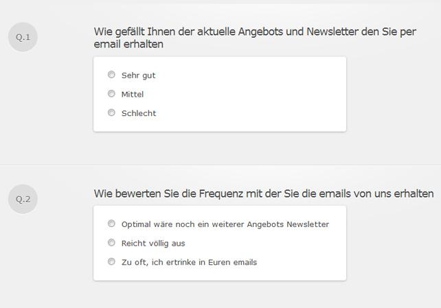 Newsletter Umfrage