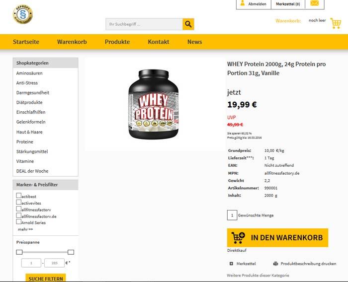 Whey Protein kaufen Onlineshop