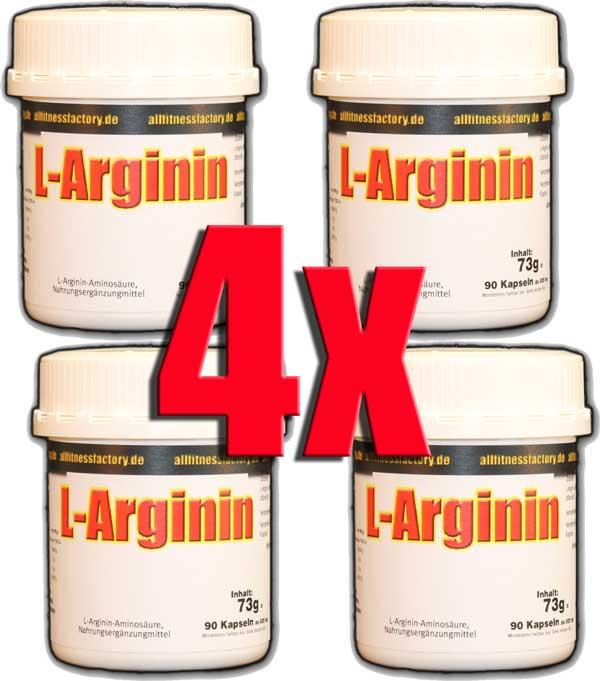 4 Dosen = 360er L-Arginin Anti Aging Potenz Muskelaufbau 90*820mg Caps