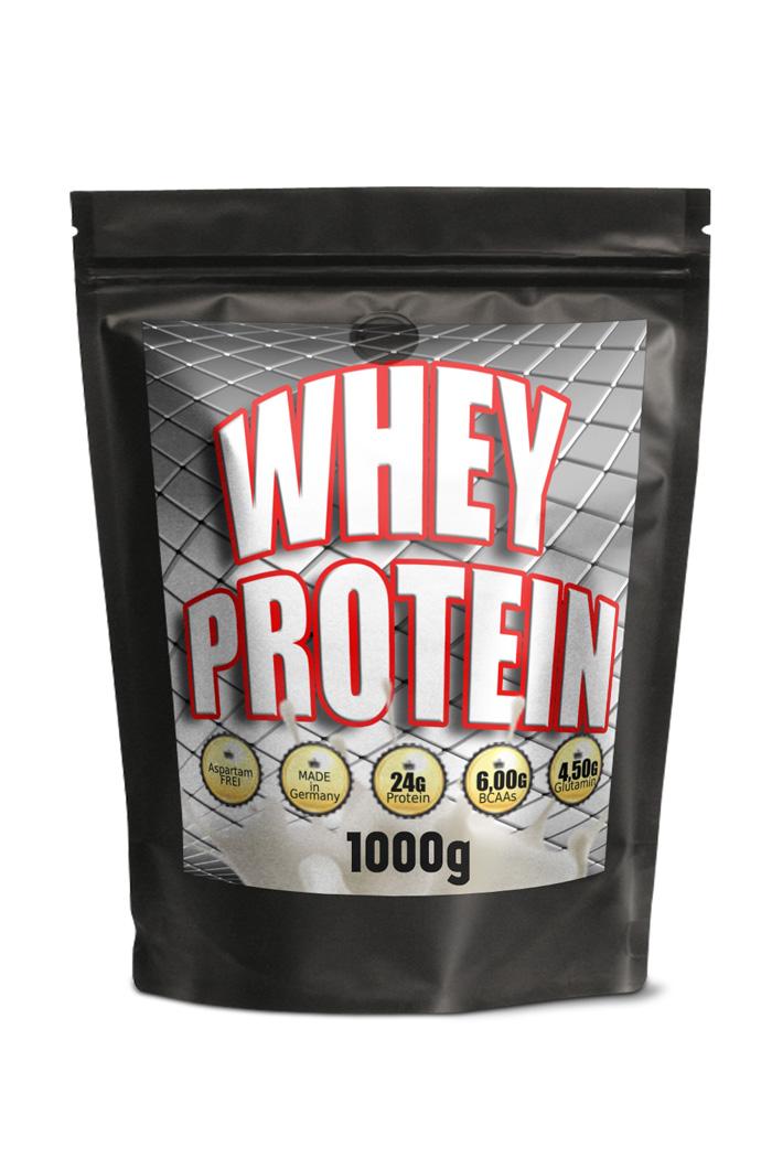 WHEY Protein 1000g, 24g Protein pro Portion 31g, 100% PUR OHNE AROMA OHNE ZUCKER