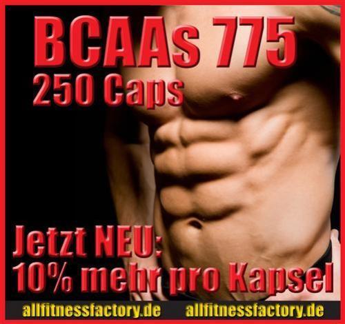 BCAA AMINO Kapseln 775mg   250 Stück Free Form AKTION