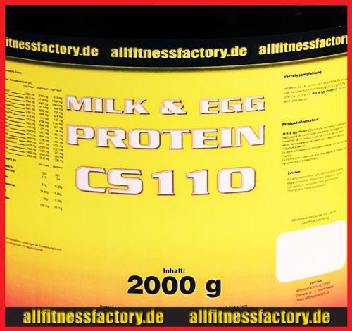 Milk & Egg Protein CS 110 2kg Eiweiß Muskelaufbau Vanille