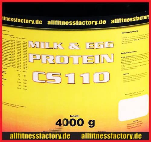 Milk & Egg Protein CS 110 4kg Eiweiß Muskelaufbau Vanille