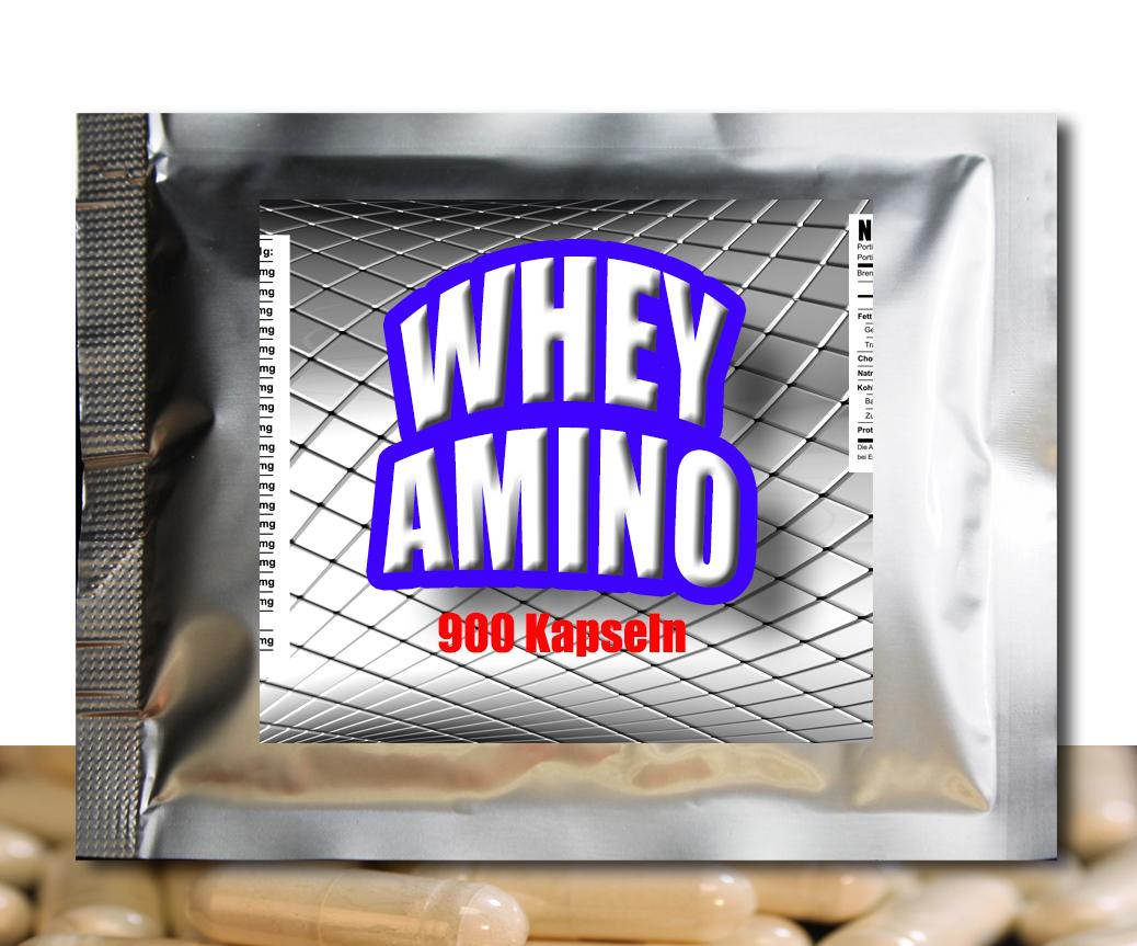 Whey AMINO Caps, 900 Stück Free Form & Peptide