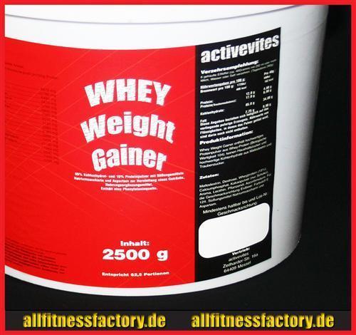 Whey Weight GAINER 2,5kg Eiweiß Protein Muskel ERDBEERE