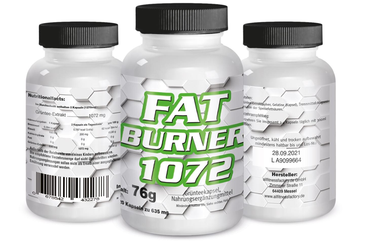 Fat Burner Kapseln 1072 - 120 Kapseln Dose versandkostenfrei & schnell