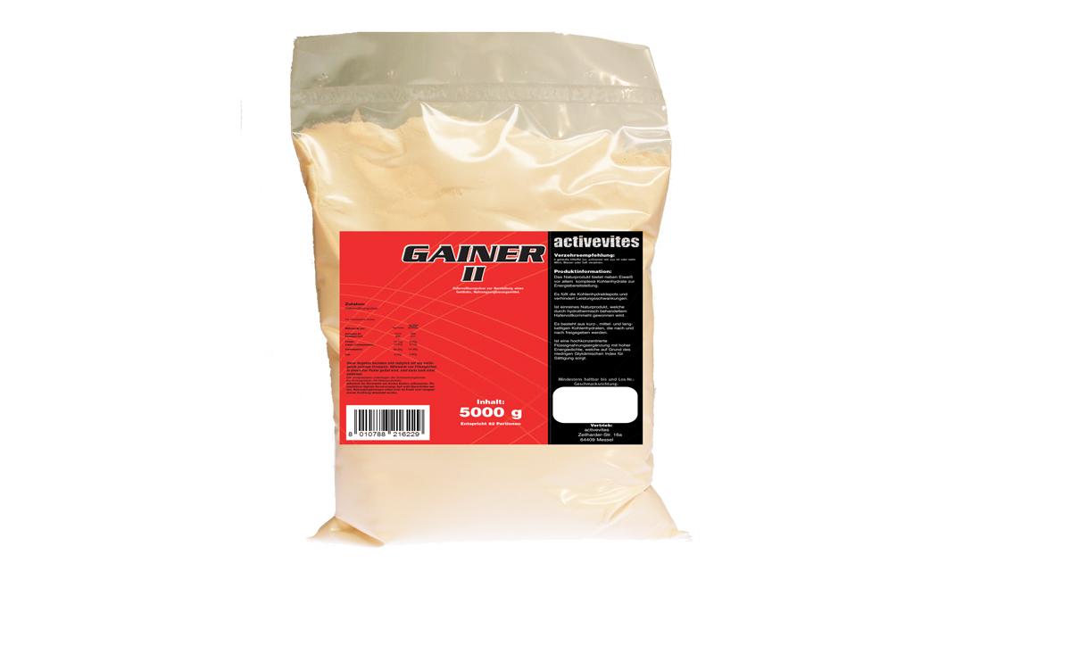 GAINER II, 5kg PE-Beutel, 5000g Hafervollkornpulver