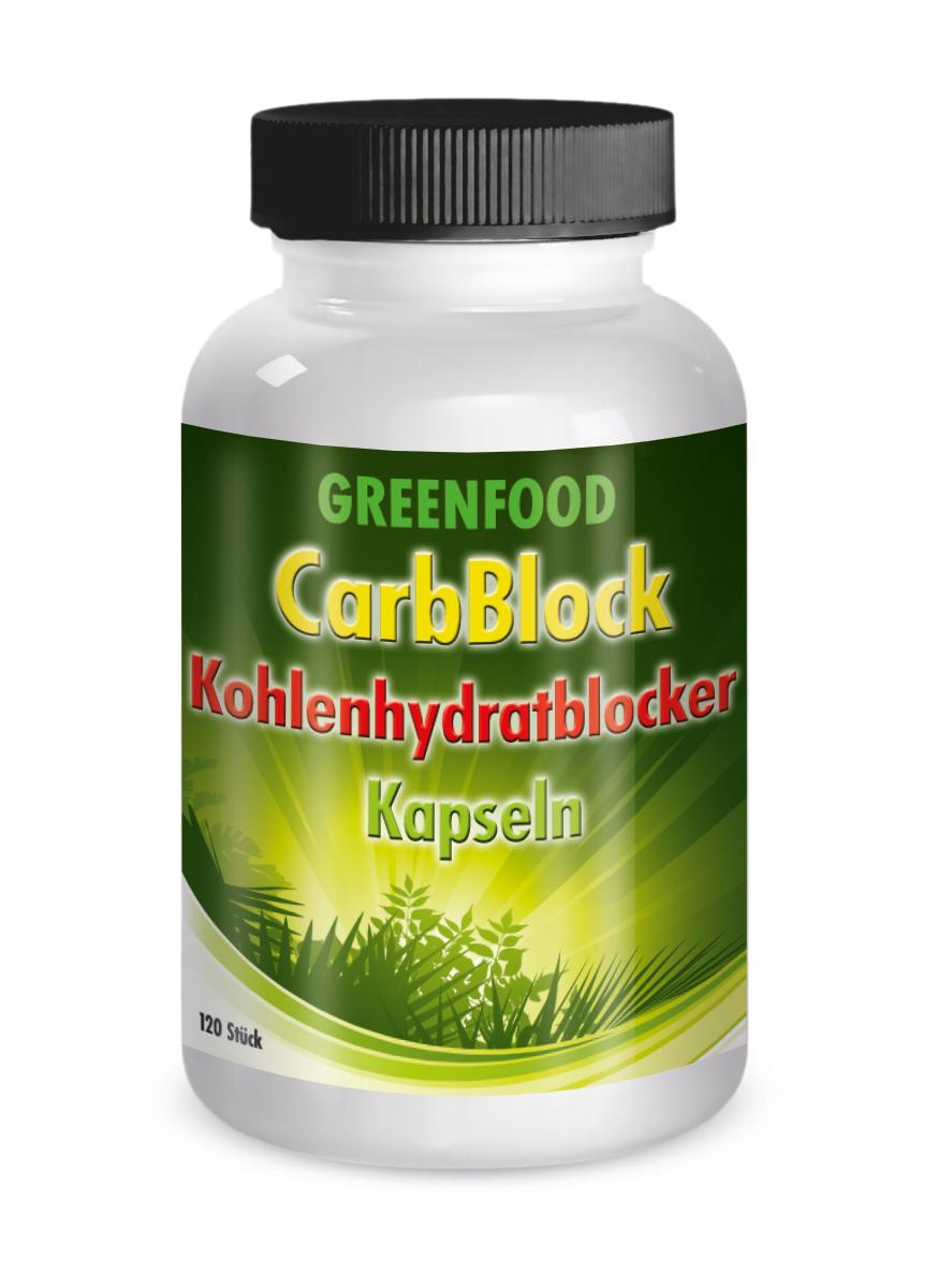 Greenfood Carb Block Kohlenhydratblocker  556 - 120 Kapseln