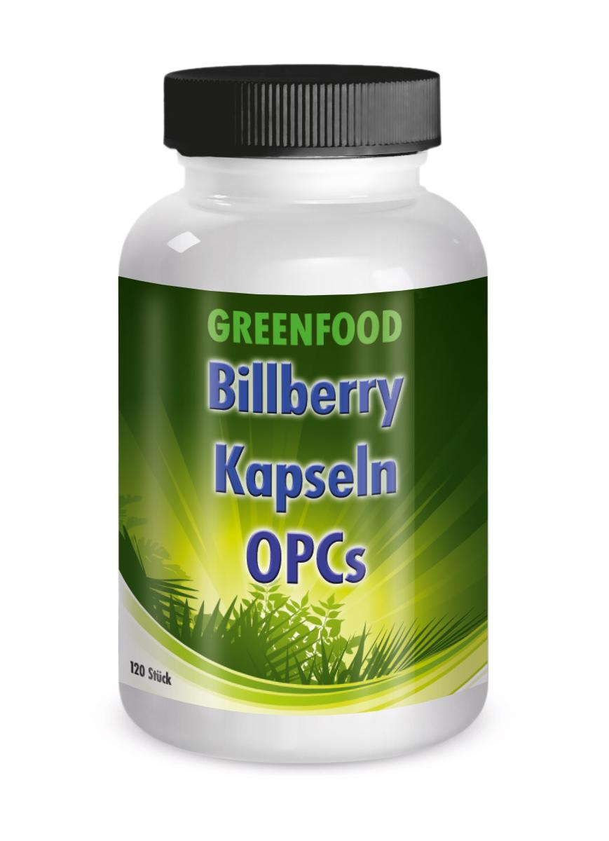 Greenfood Heidelbeer OPC Formel  120 Kapseln