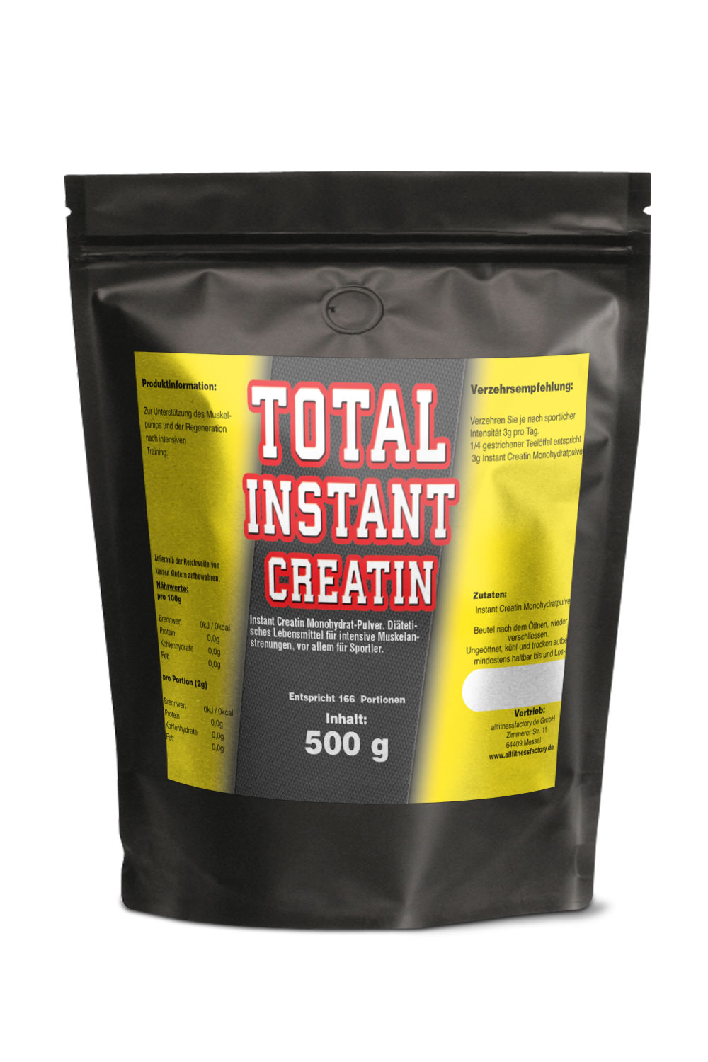 Total INSTANT Creatin Monohydrat 500g Instant Kreatin
