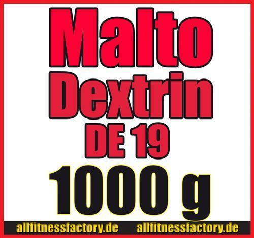 activevites Maltodextrin 1000g Kohlenhydrate reines Maltodextrin DE 19