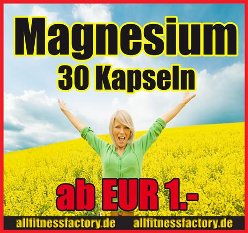 Magnesium PUR Kapseln Mineral MG TOPPREIS nu kurze Zeit