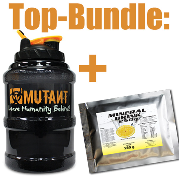 Mutant Mega Mug 2,6L Water Bottle Jug BUNDLE versandfrei