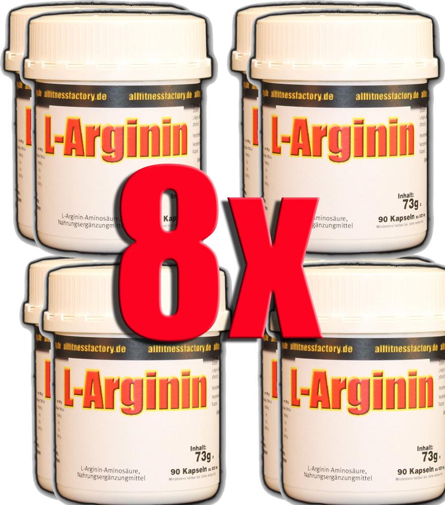 8 Dosen = 720er L-Arginin Anti Aging Potenz Muskelaufbau 90*820mg Caps