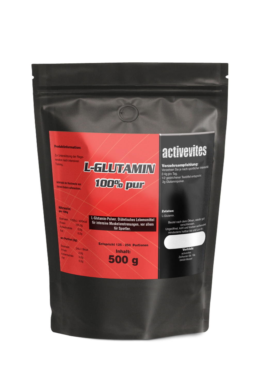 500g L-Glutamin Qualitäts Aminosäure Pulver 100%PUR WOW