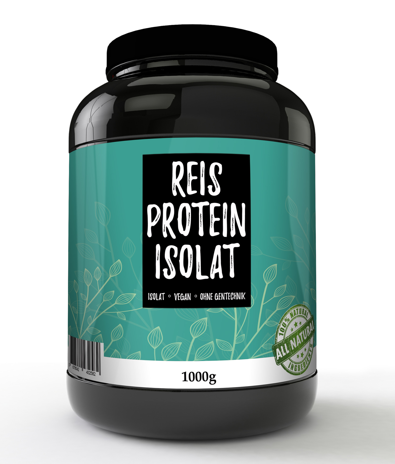 Reisprotein 90% 1000g Protein Pulver Glutenfrei Reis Vegan Rice Eiweiss