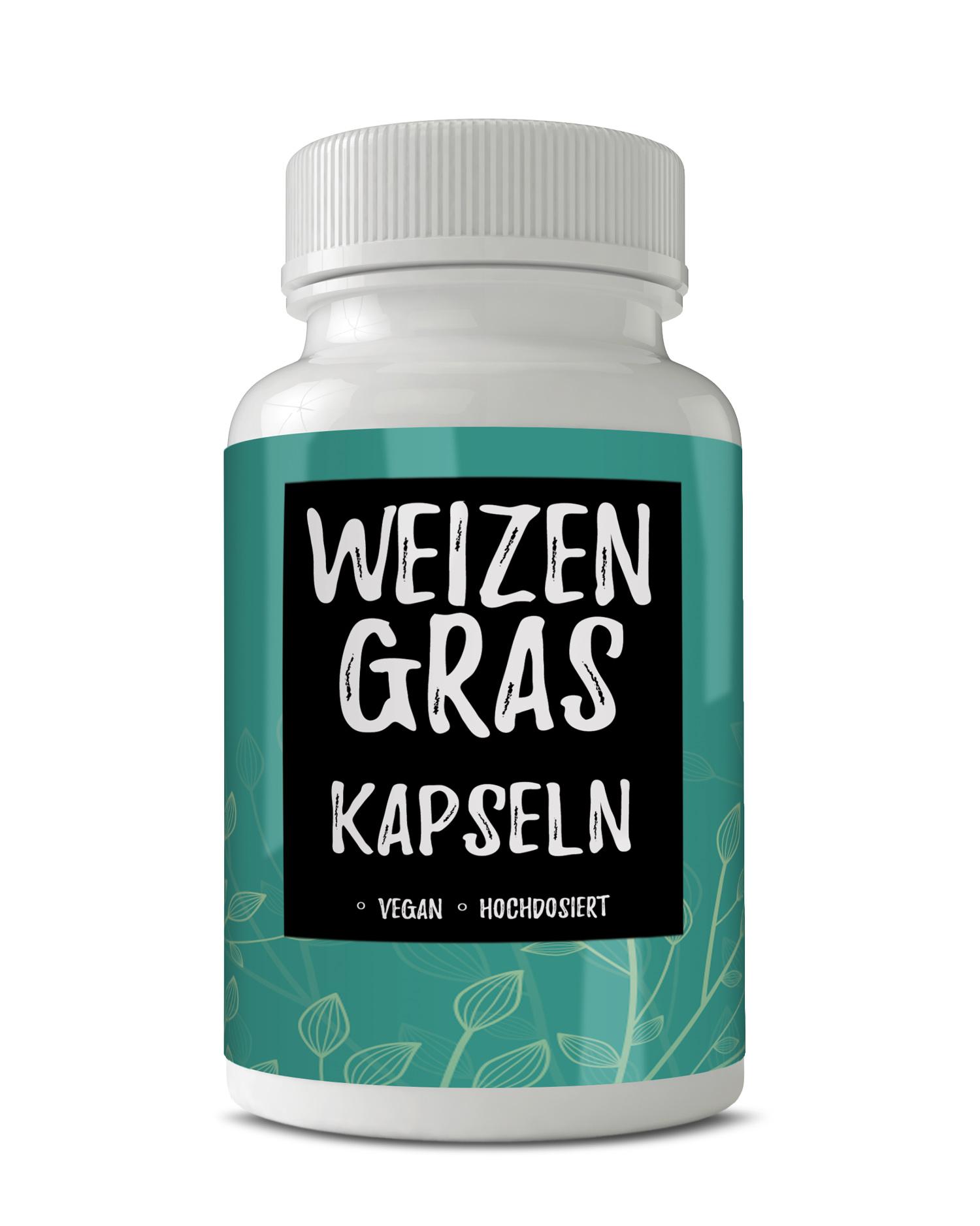 53€/100g Weizengras 120 Stk Kapseln Weizengraspulver aus Deutschland Vegan Green