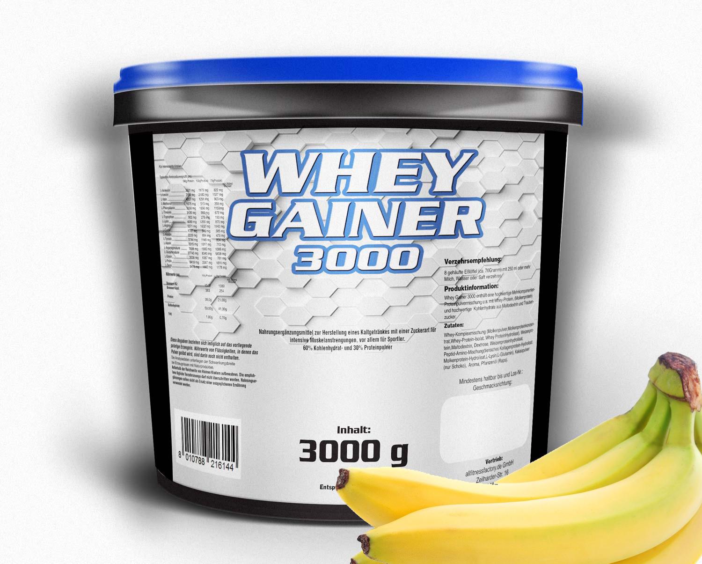 Whey Gainer 3kg BananeCookies versandfrei!