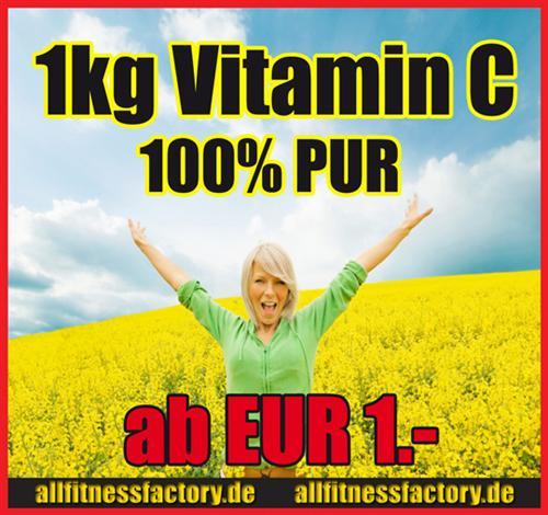 VITAMIN C Pulver 1kg Vitamine nur kurze Zeit SUPERPREIS