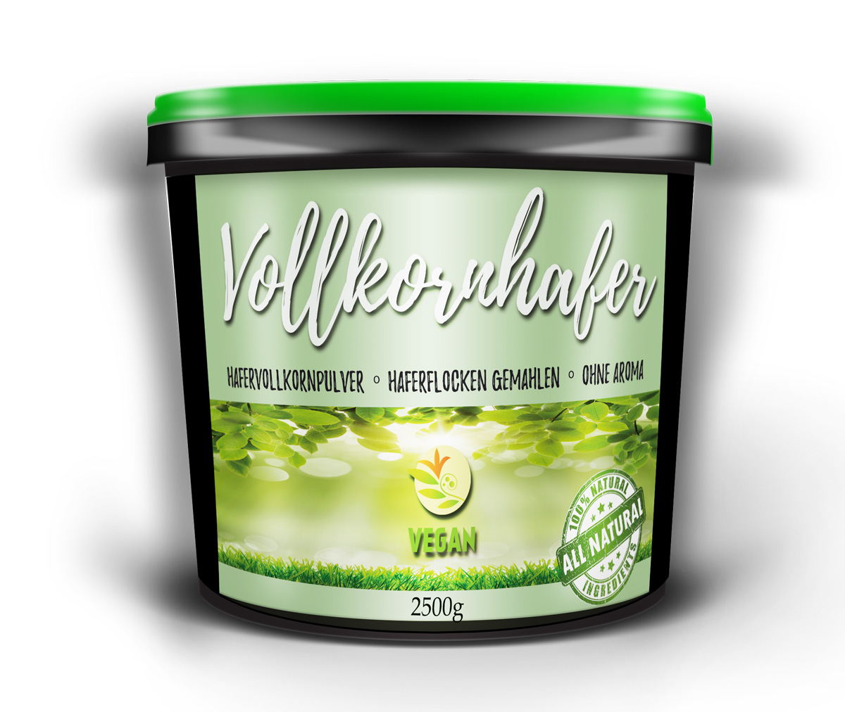 Vollkornhafer Oatmeal Unglaublich lecker obendrein gesund vegan 2500g