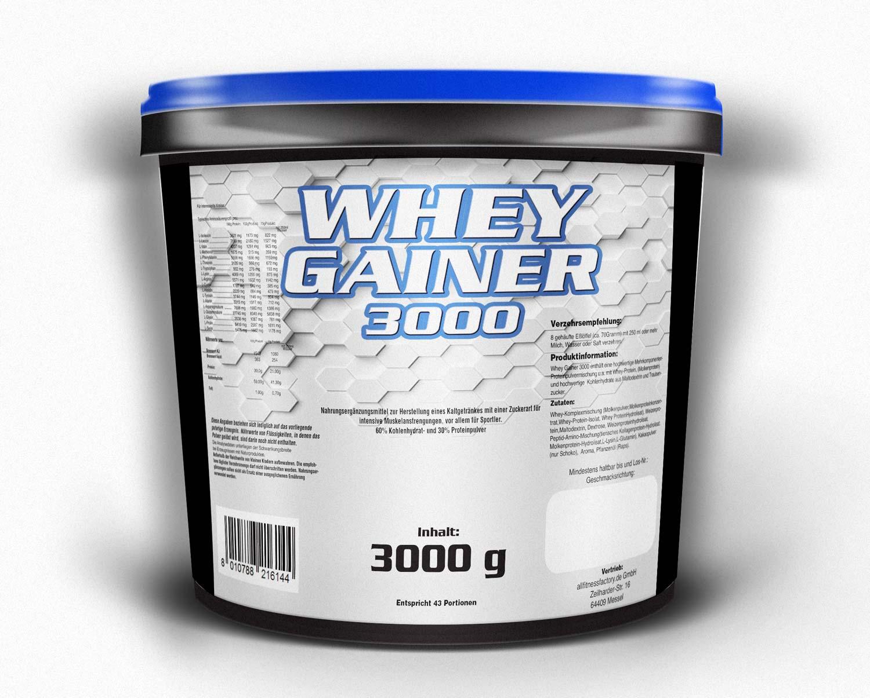 Whey Gainer 3kg versandfrei! Auswahl andere Geschmacksrichtungen
