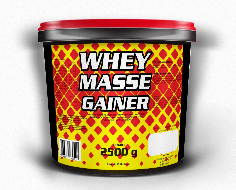 Whey Masse Gainer 2500g Schoko Amino Eiweiß Protein Shake Muskelaufbau