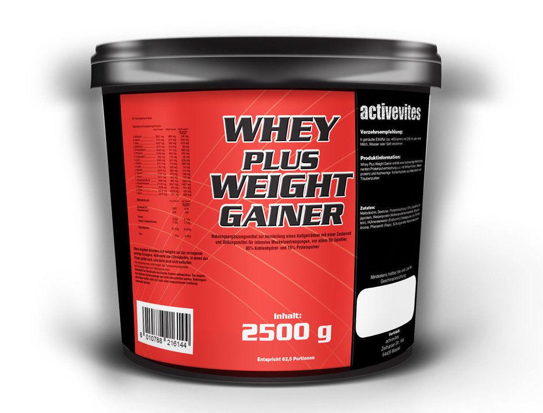 Whey + Weight GAINER 2500g Eiweiß Protein Muskelaufbau