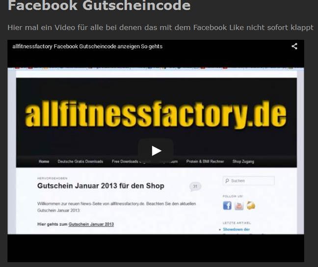 Facebook Gutscheincode