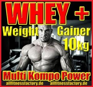 Whey + Weight Gainer jetzt