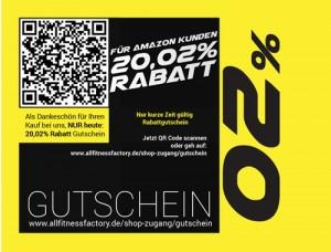 20 Prozent Gutschein allfitnessfactory