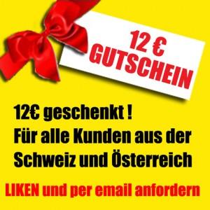 12 EUR Gutschein NEU
