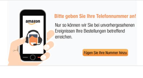 Telefon bei Bestellung