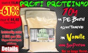 Endet bald Profi Protein 90 10kg Aktion