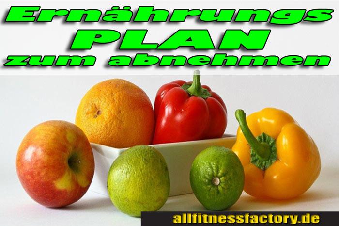 Ernährungsplan zum Abnehmen 2