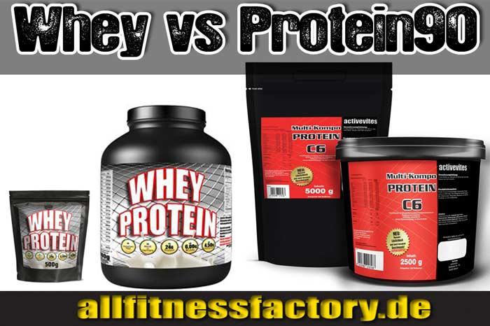 Whey oder Mehrkomponenten Protein