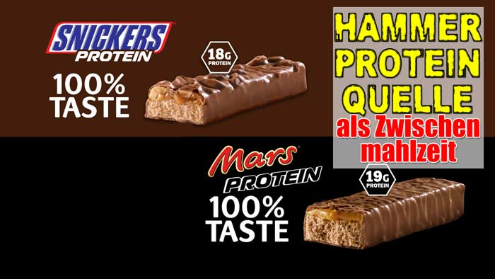 Snickers Protein Riegel vs Mars Protein Riegel