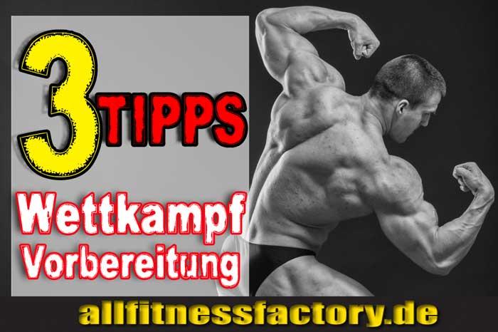 Wettkampfvorbereitung Bodybuilding