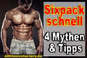 Bauchmuskeltraining Sixpack schnell